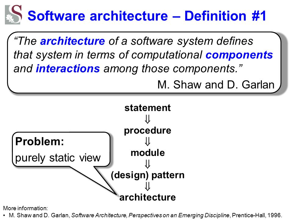 Software architecture – Definition #1