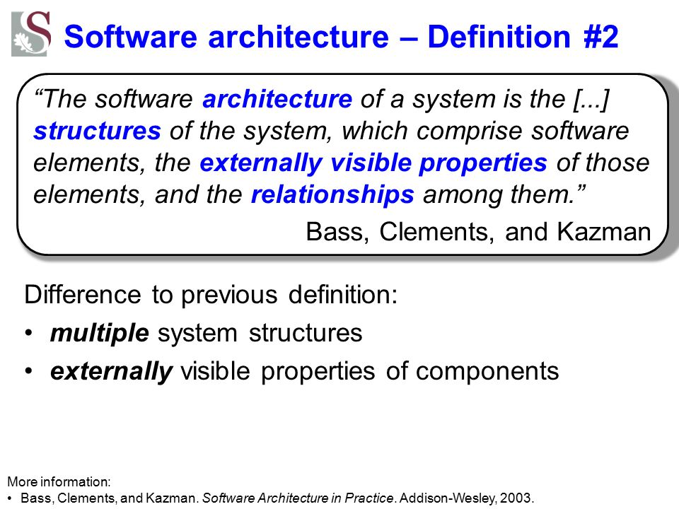 Software architecture – Definition #2
