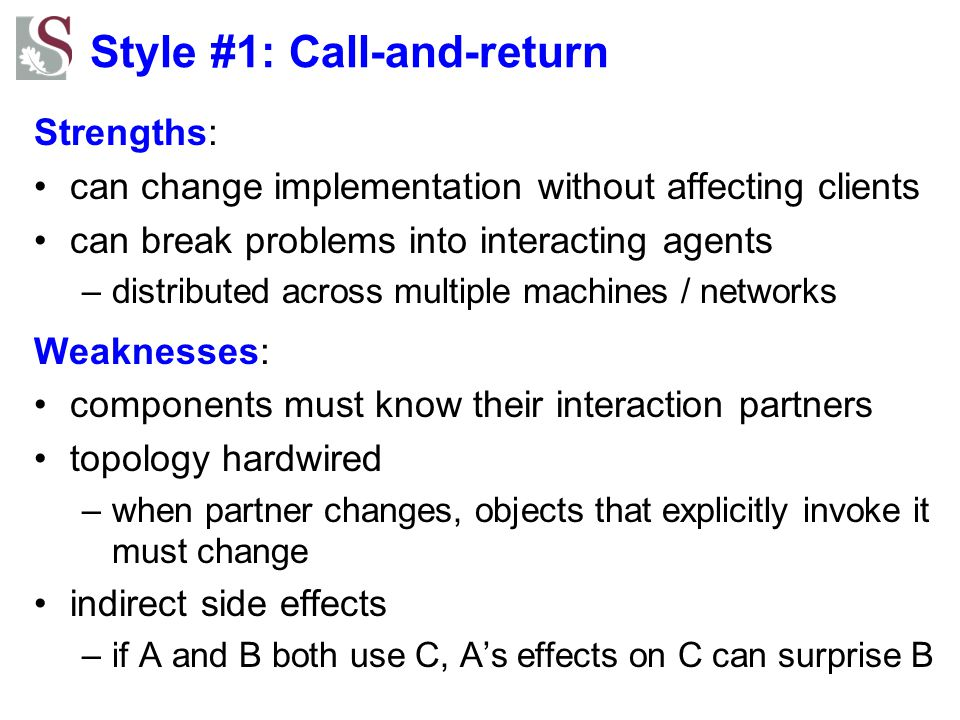 Style #1: Call-and-return