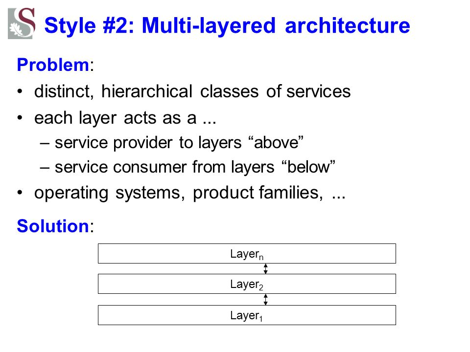 Style #2: Multi-layered architecture