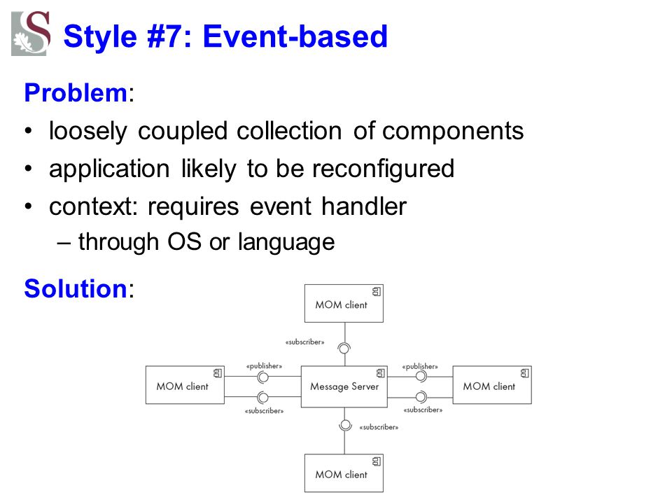 Style #7: Event-based Problem: