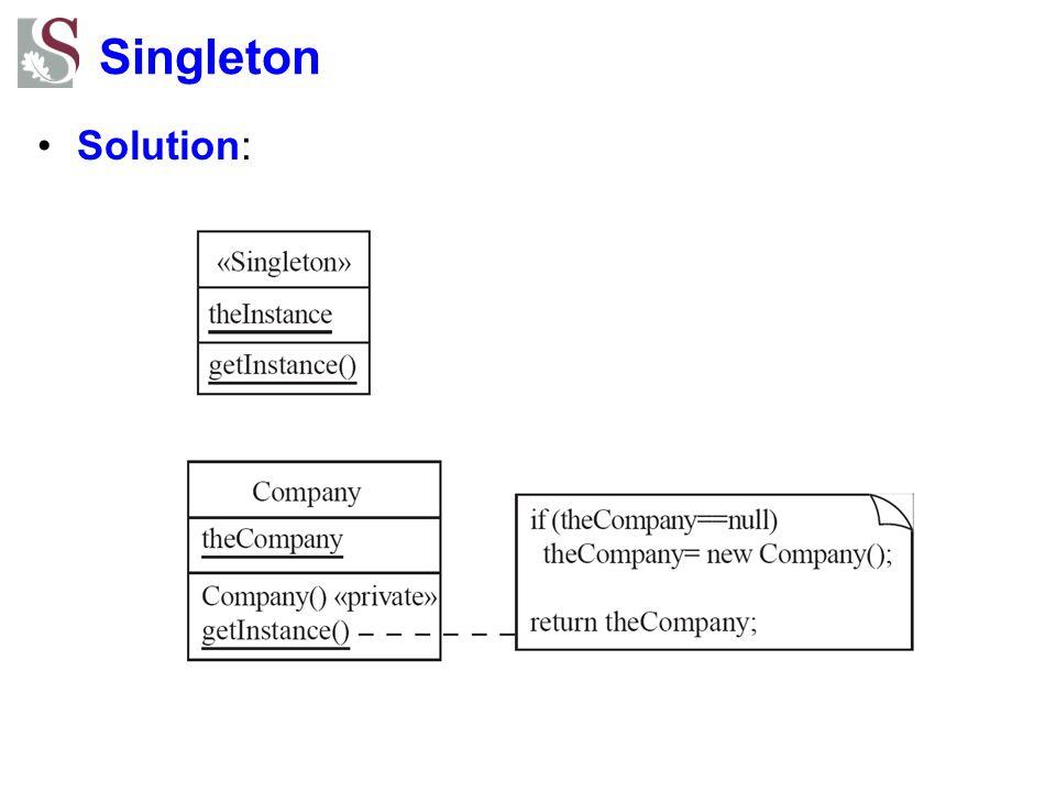 Singleton Solution: