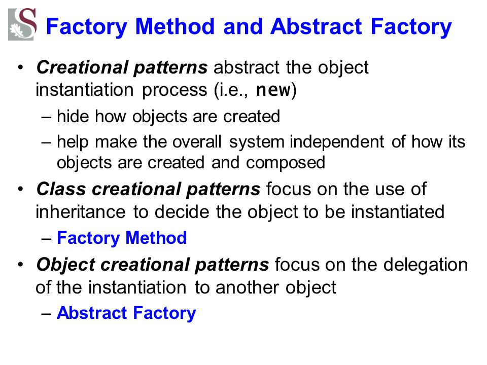 Factory Method and Abstract Factory