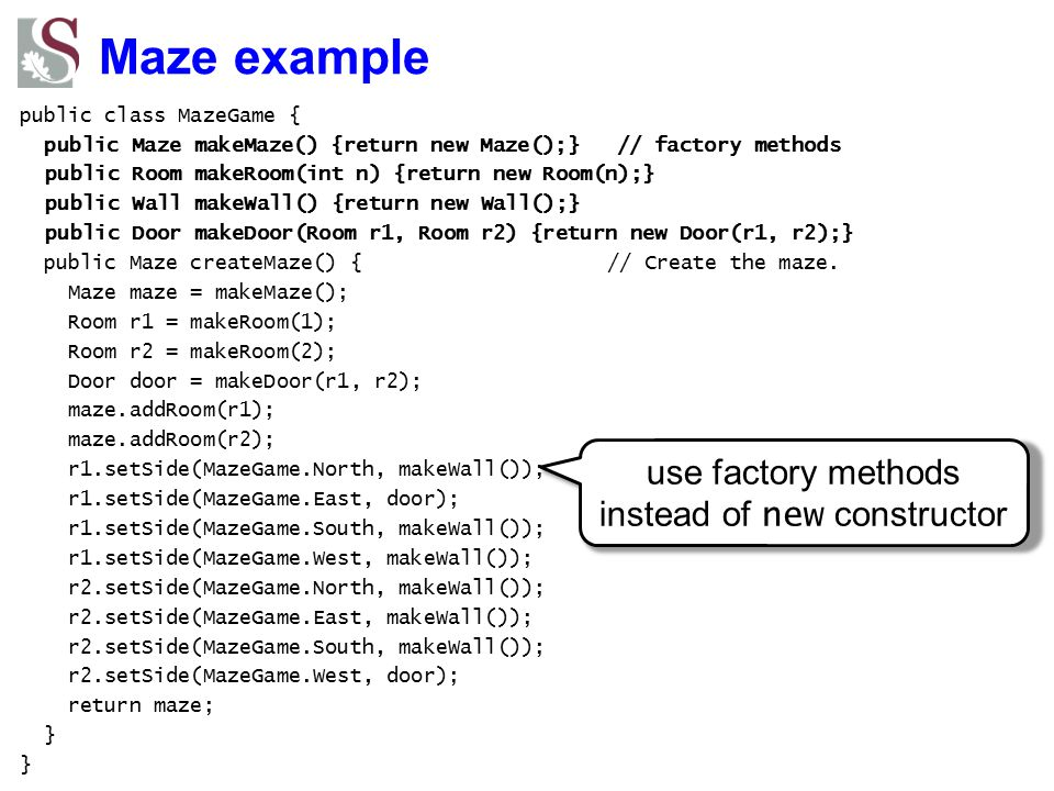 use factory methods instead of new constructor