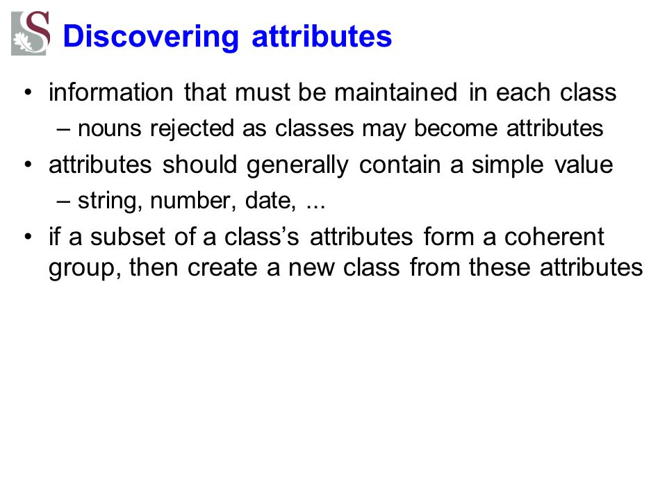 Discovering attributes