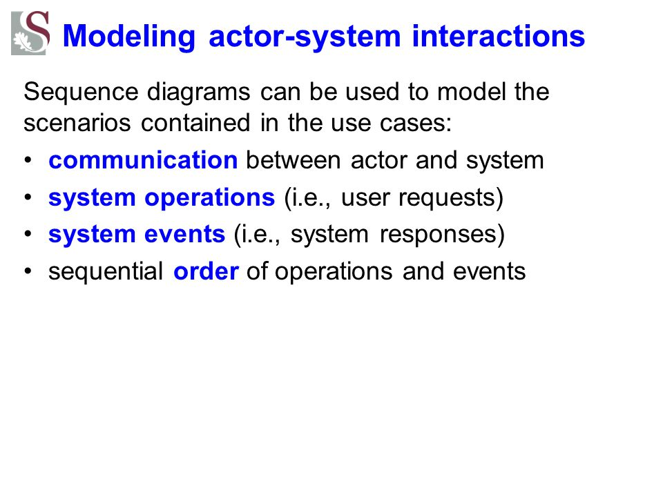 Modeling actor-system interactions