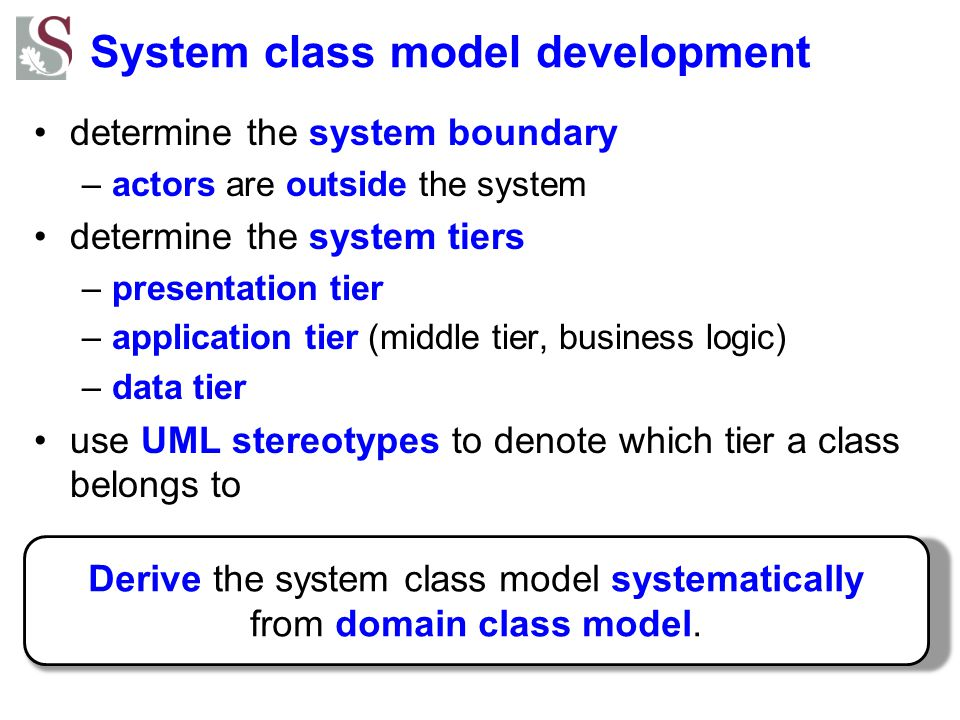 System class model development