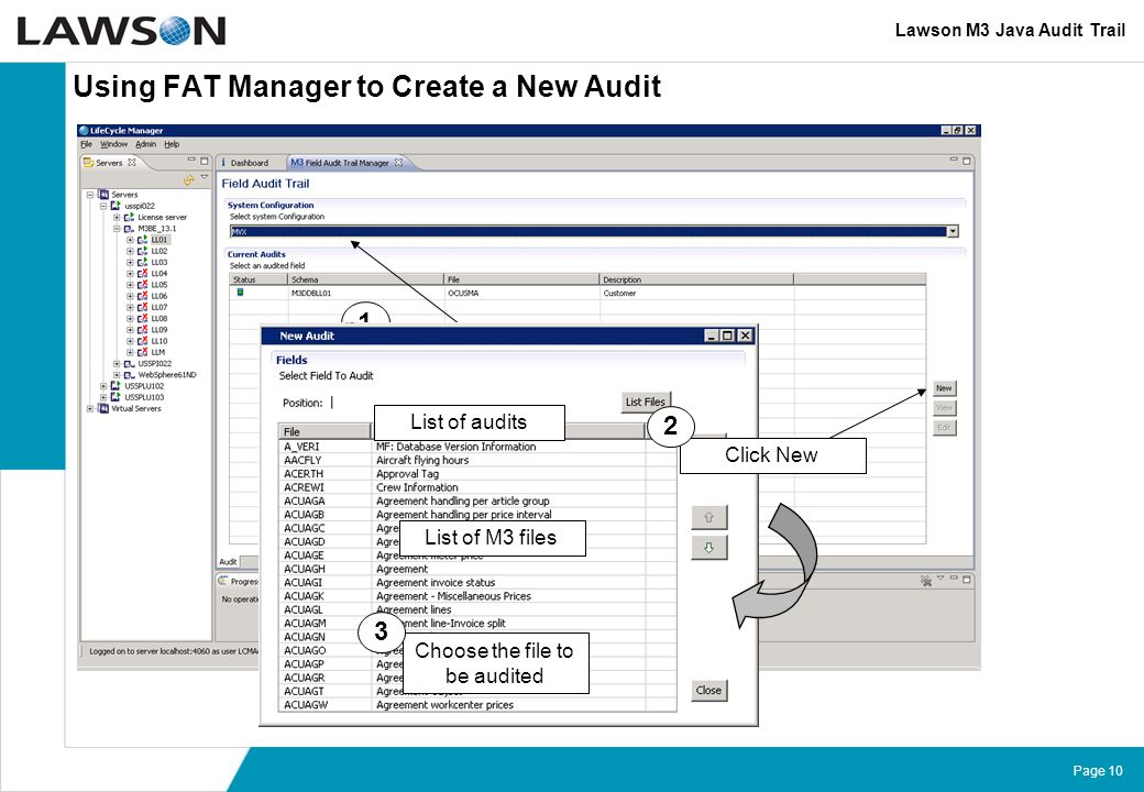 Using FAT Manager to Create a New Audit