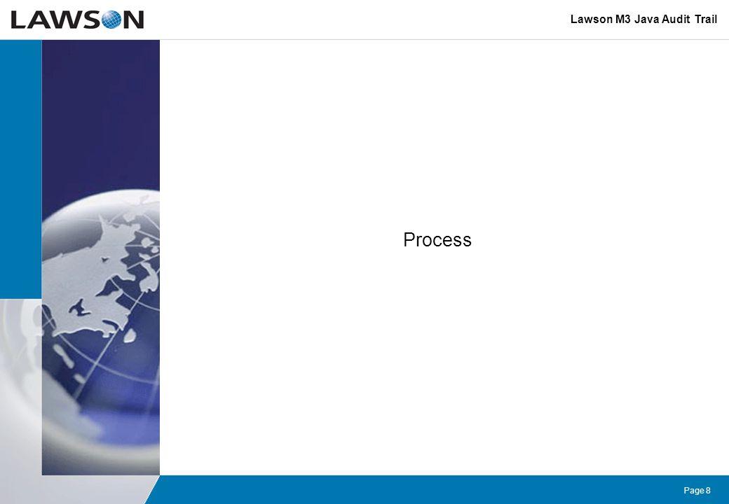 Lawson M3 Java Audit Trail