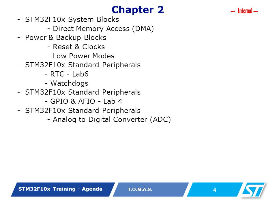 Chapter 2 - STM32F10x System Blocks - Direct Memory Access (DMA)