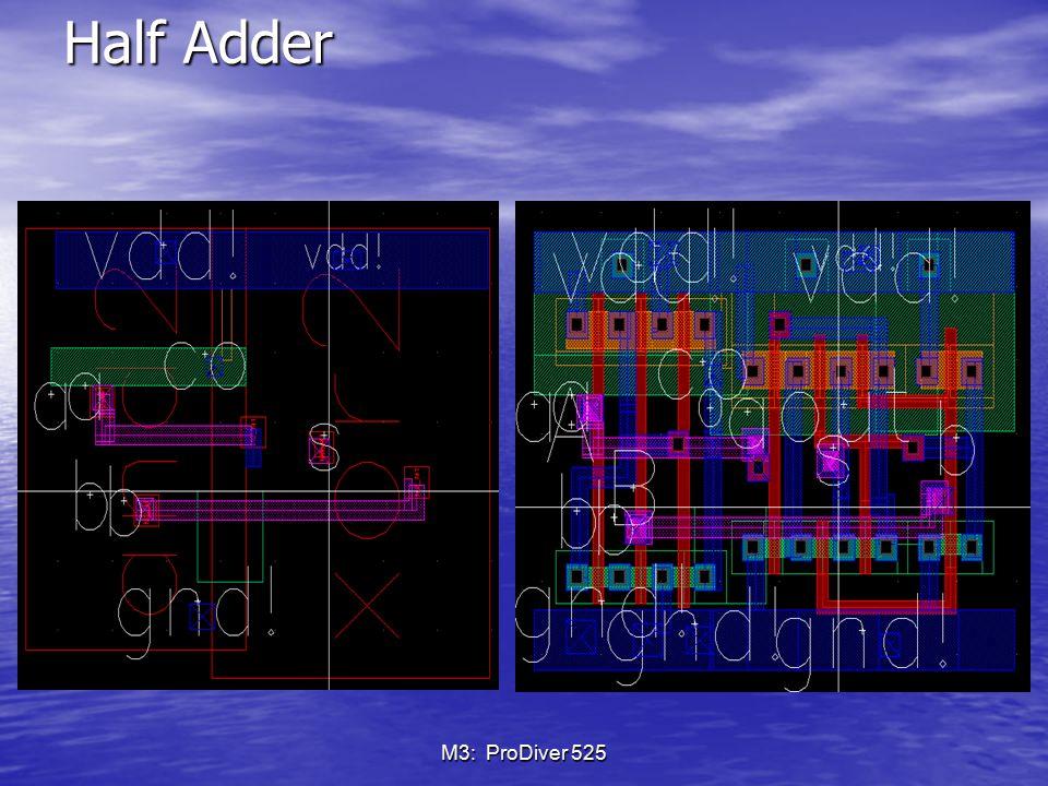 Half Adder M3: ProDiver 525
