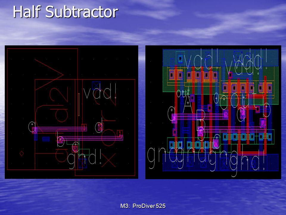 Half Subtractor M3: ProDiver 525