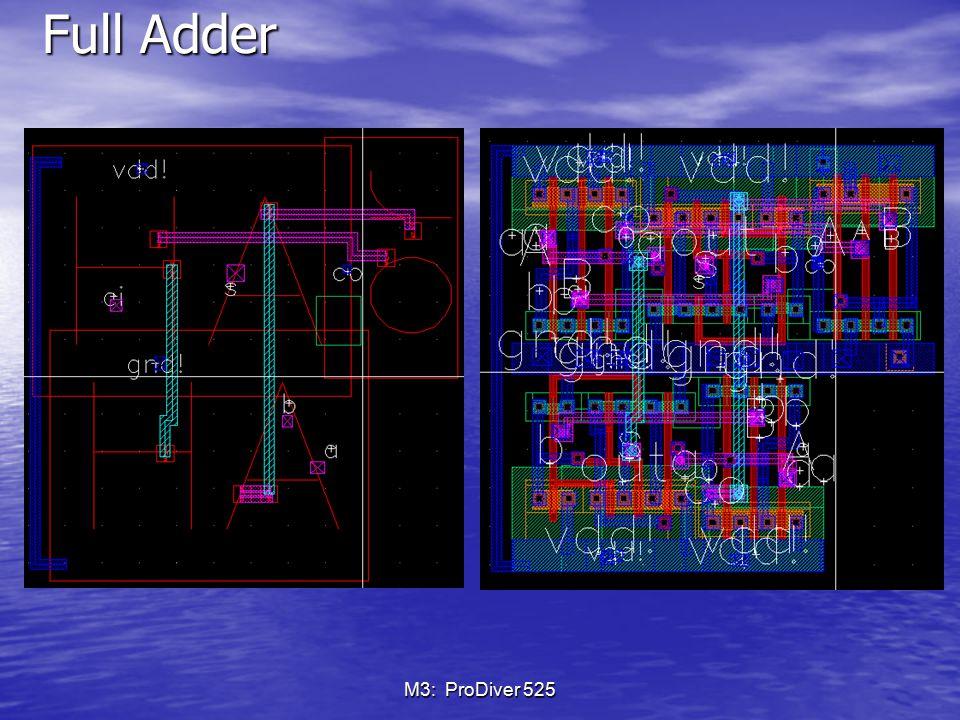 Full Adder M3: ProDiver 525
