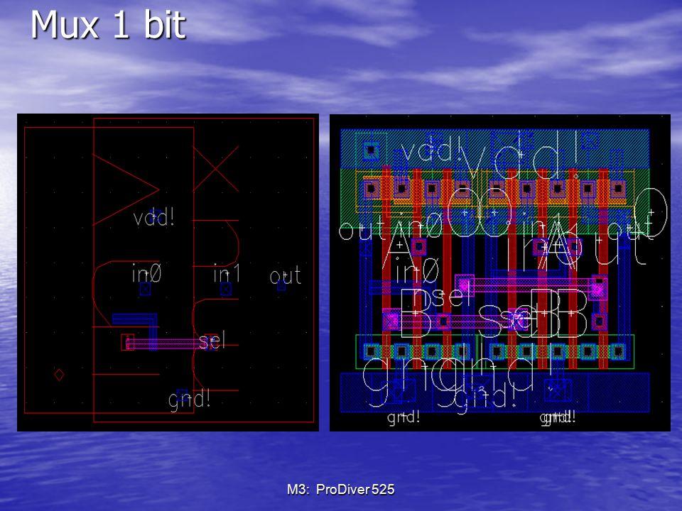 Mux 1 bit M3: ProDiver 525