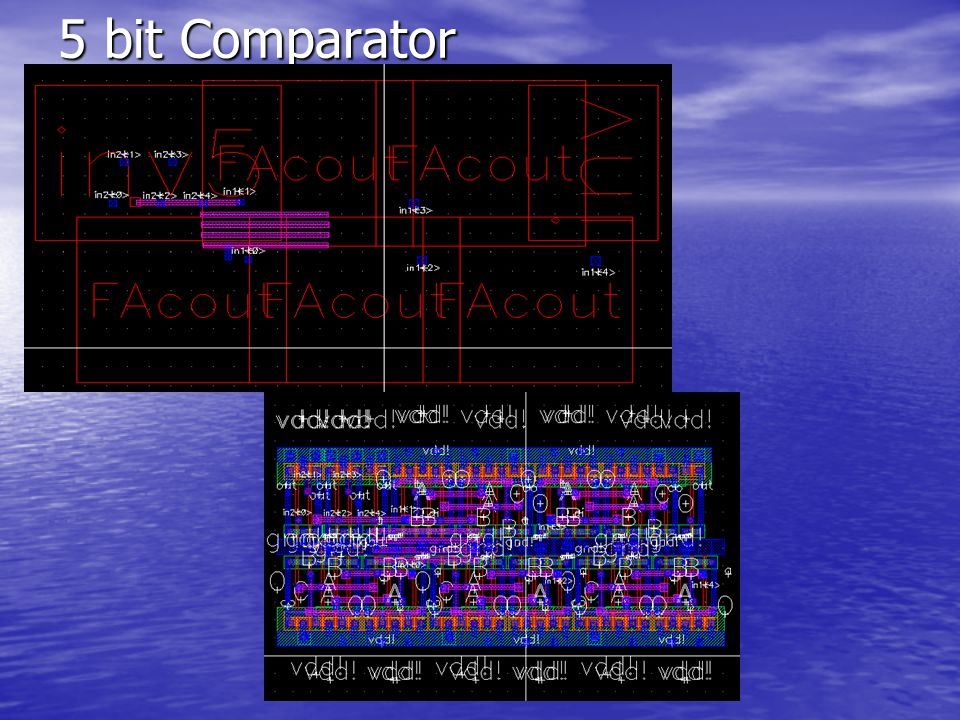 5 bit Comparator M3: ProDiver 525