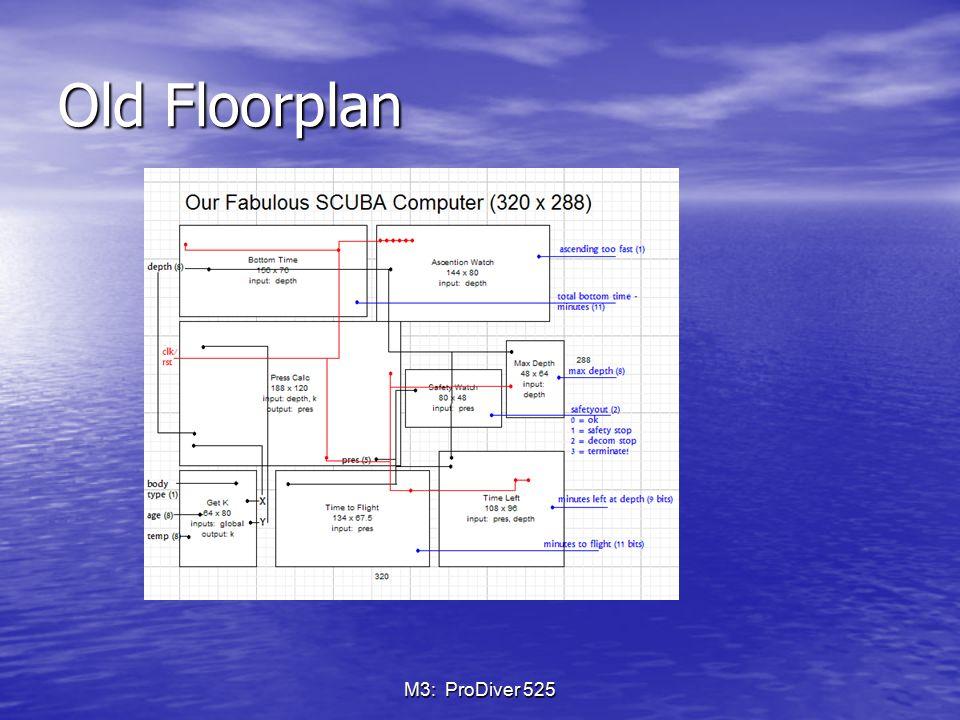 Old Floorplan M3: ProDiver 525