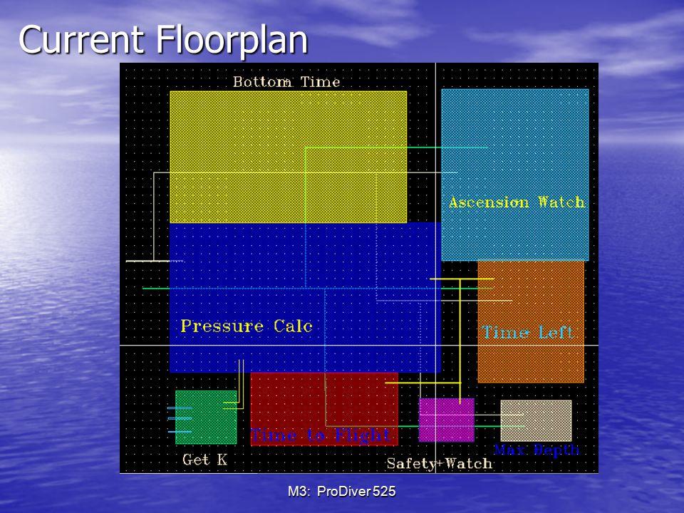 Current Floorplan M3: ProDiver 525