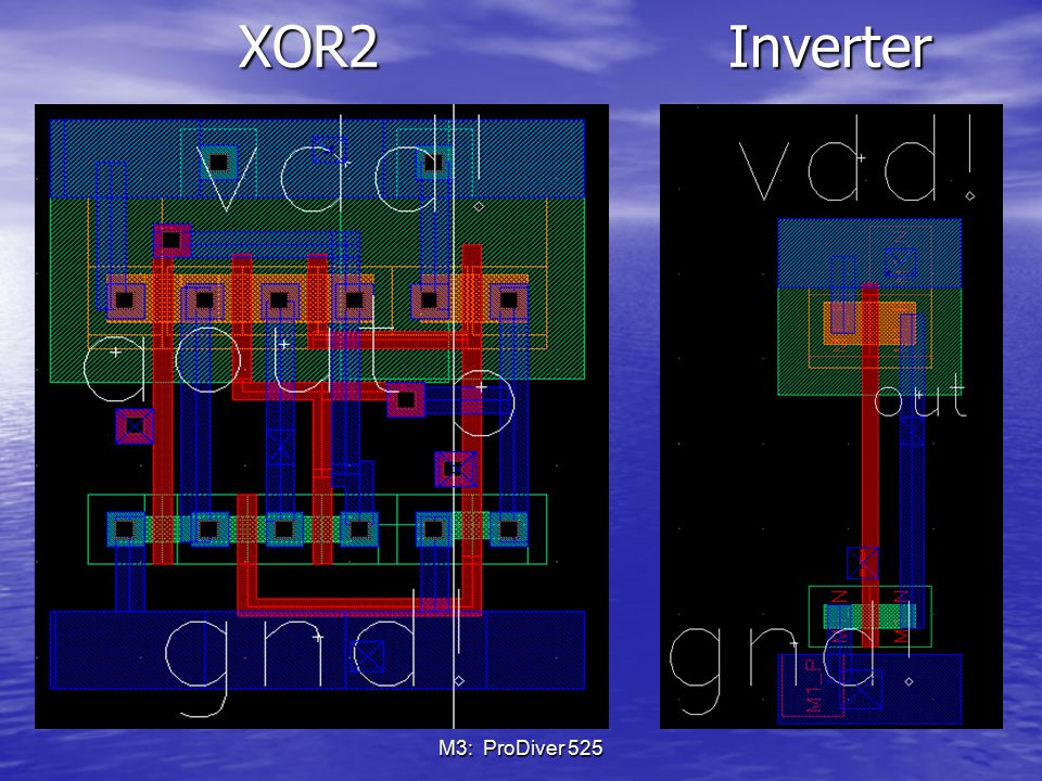 XOR2 Inverter M3: ProDiver 525