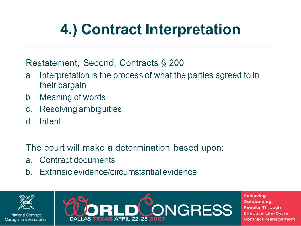 4.) Contract Interpretation