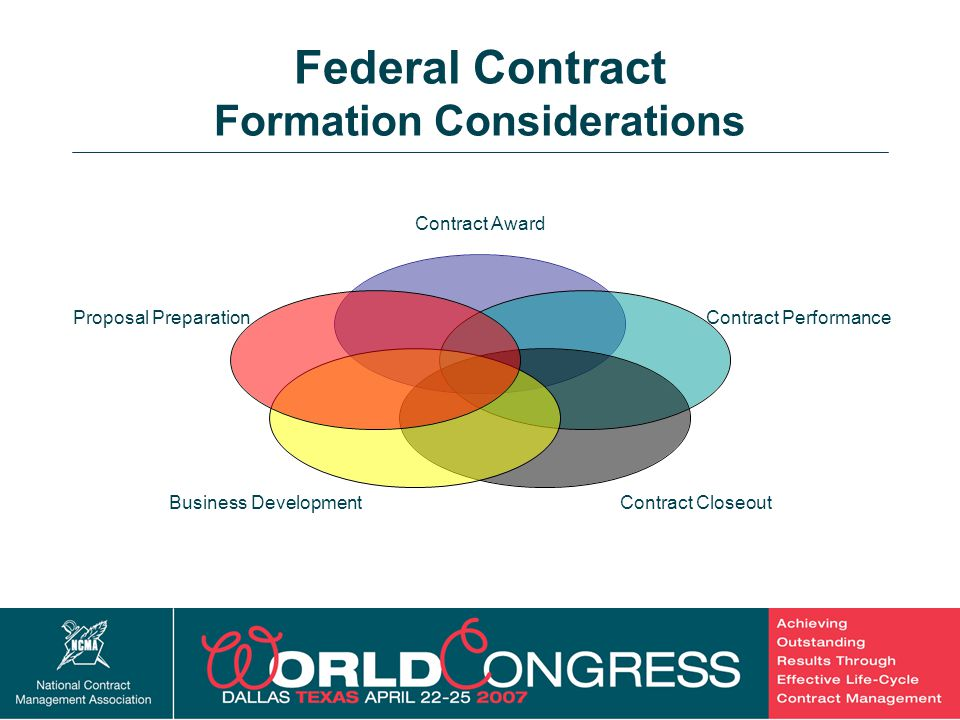 Federal Contract Formation Considerations