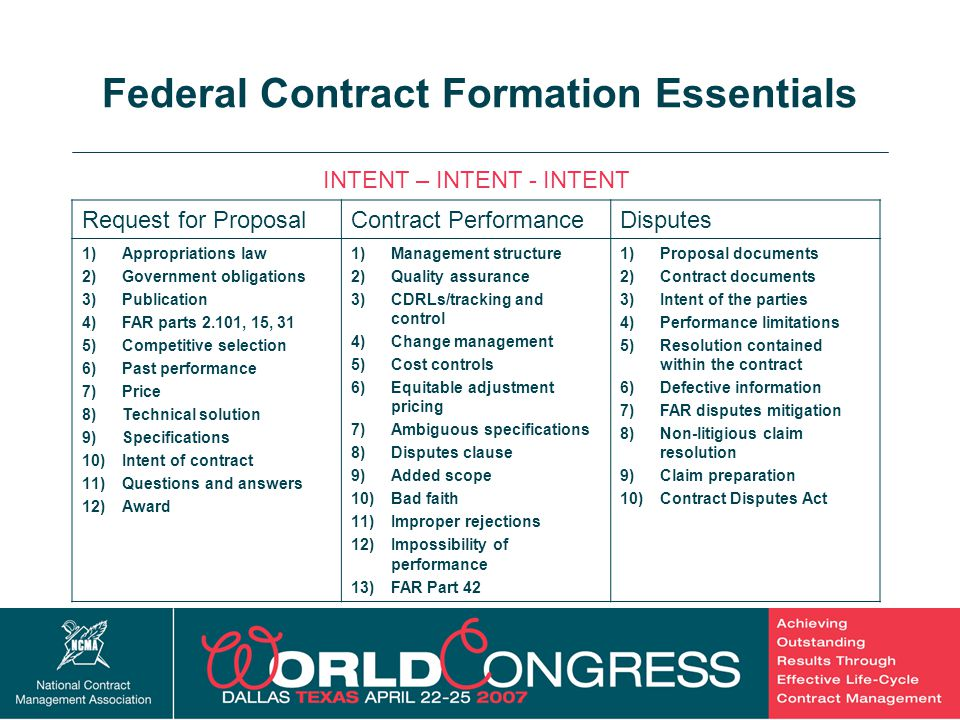Federal Contract Formation Essentials