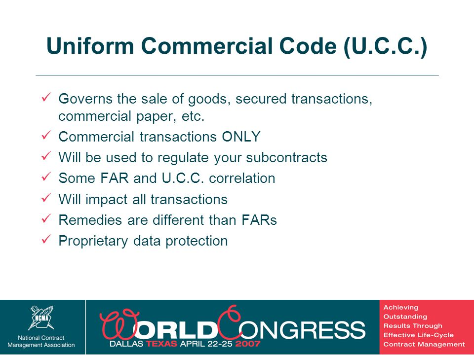 Uniform Commercial Code (U.C.C.)