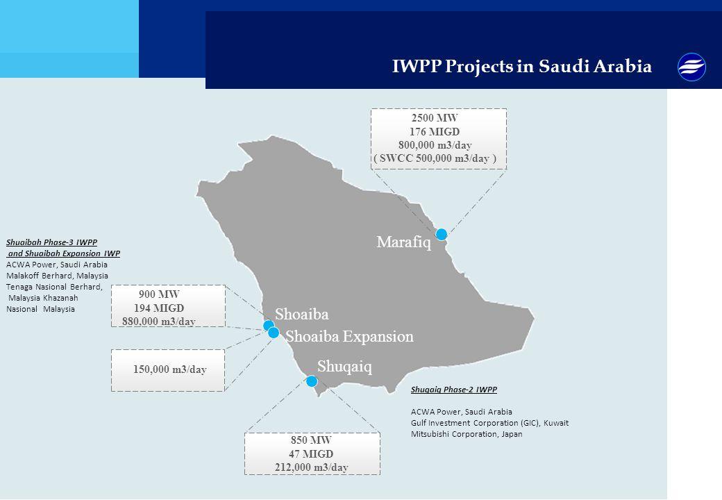 IWPP Projects in Saudi Arabia