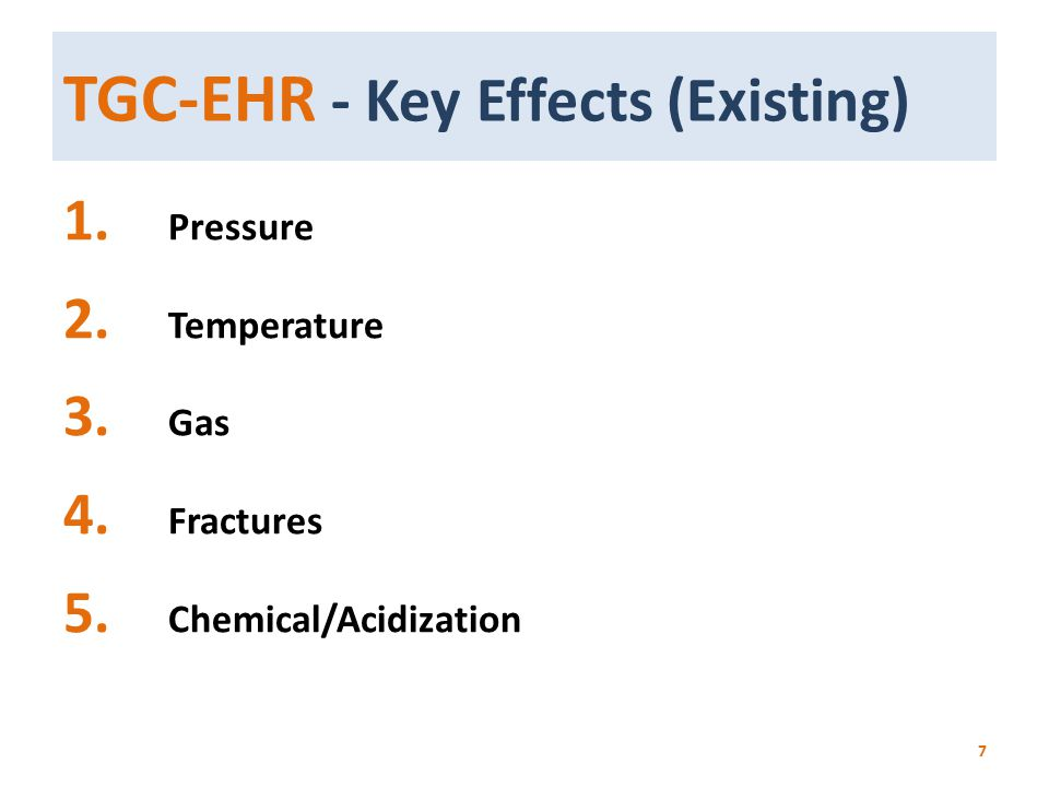 TGC-EHR - Key Effects (Existing)