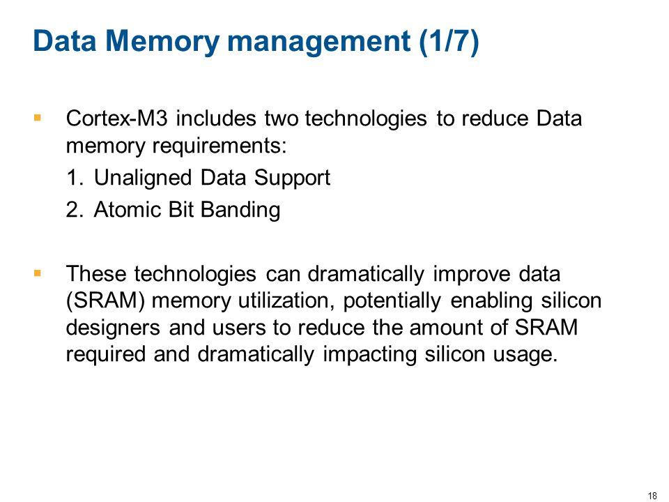 Data Memory management (1/7)