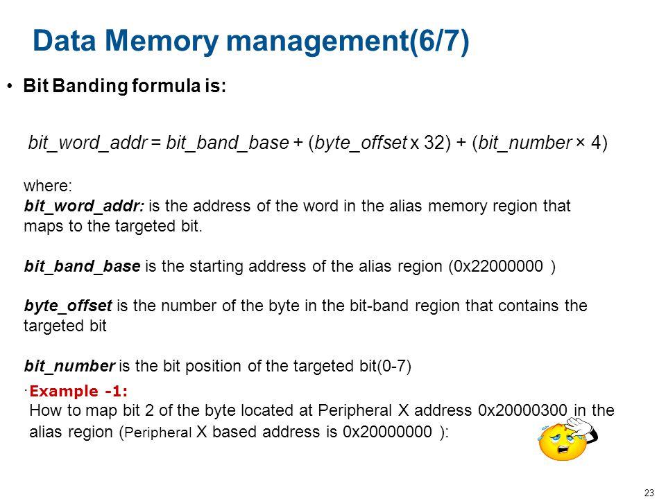 Data Memory management(6/7)