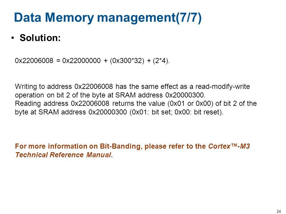 Data Memory management(7/7)