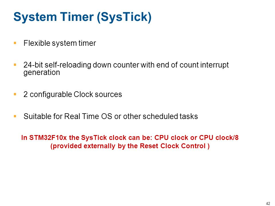 System Timer (SysTick)