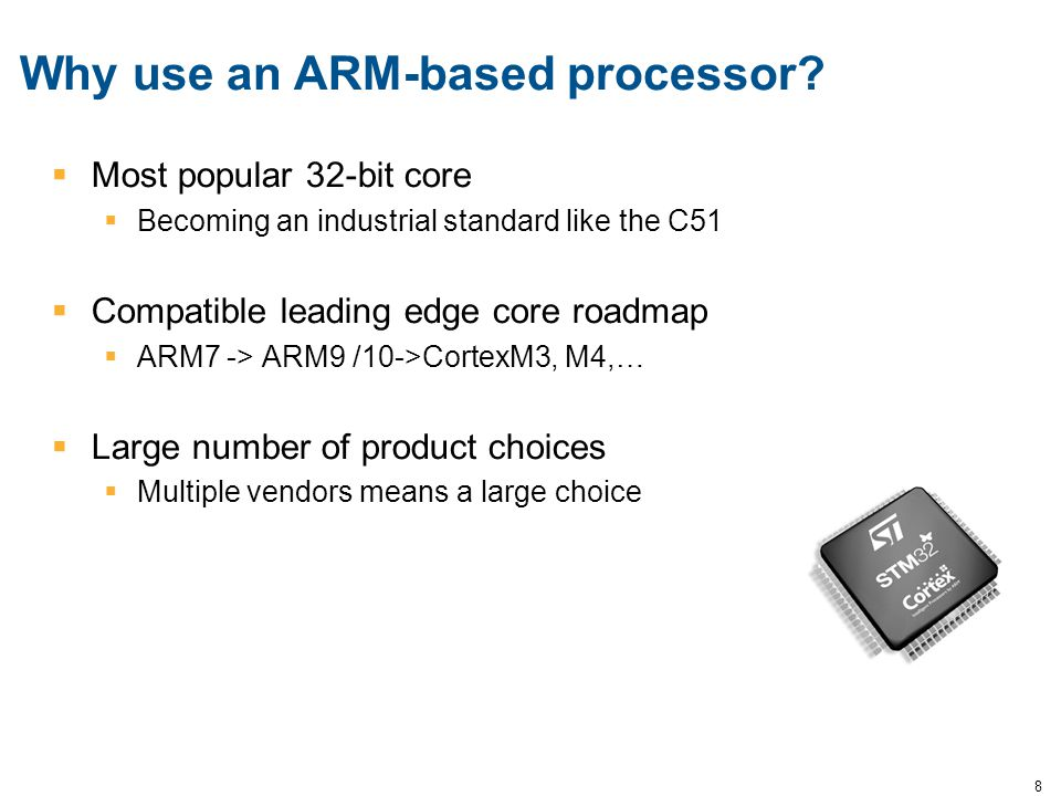 Why use an ARM-based processor