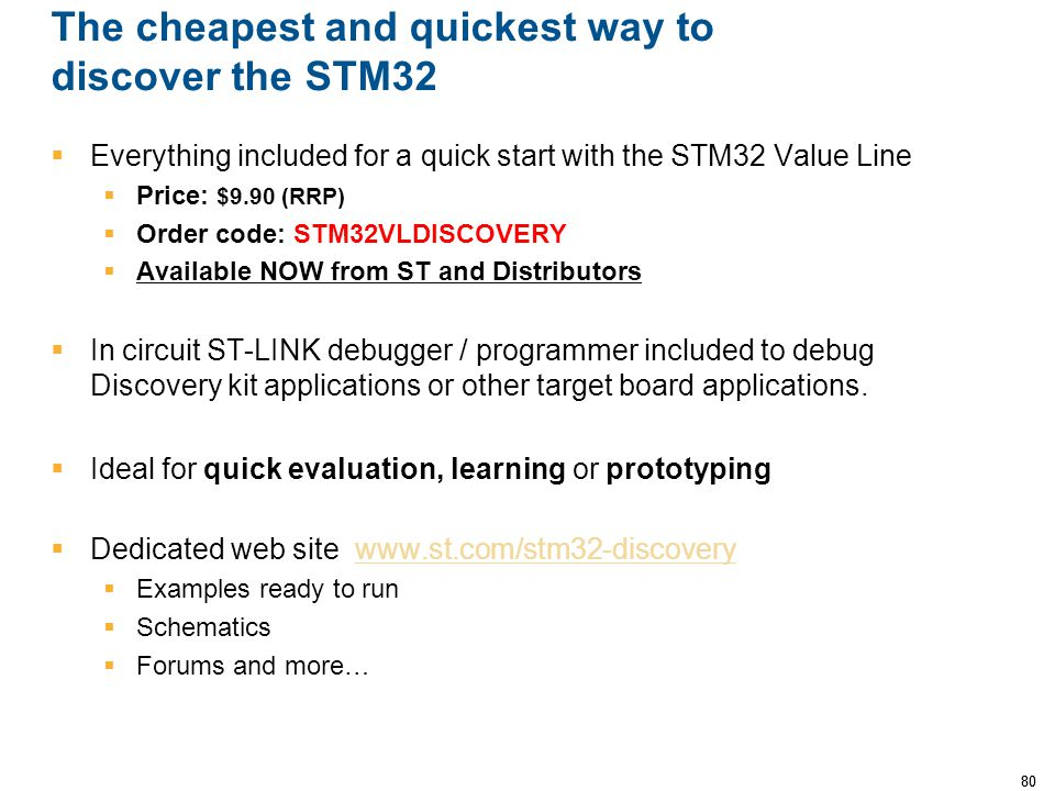The cheapest and quickest way to discover the STM32