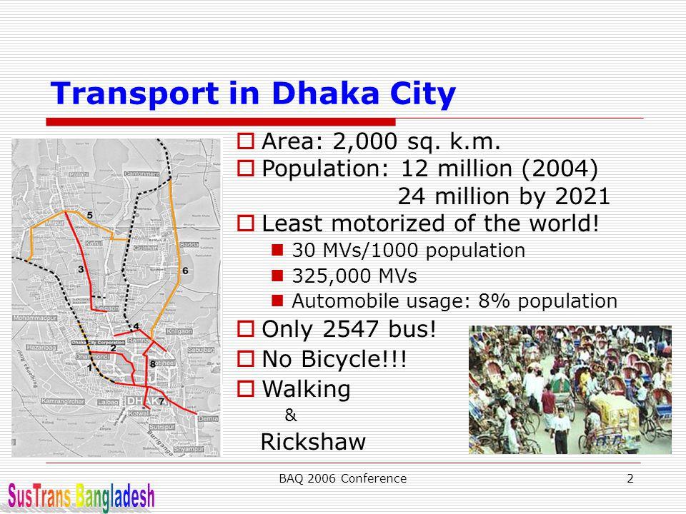 Transport in Dhaka City