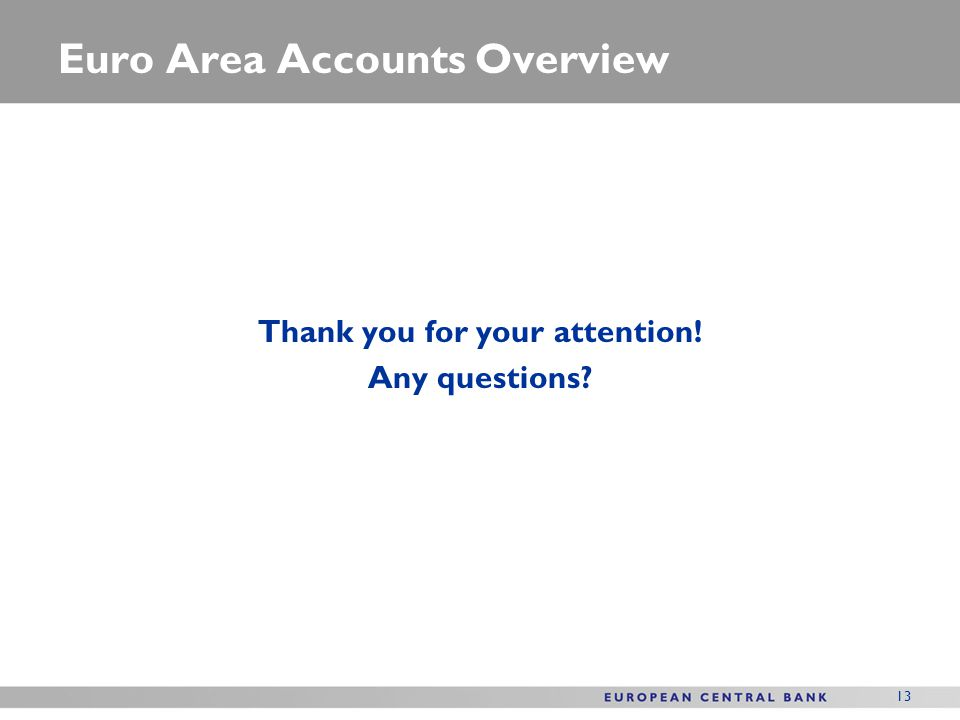 Euro Area Accounts Overview