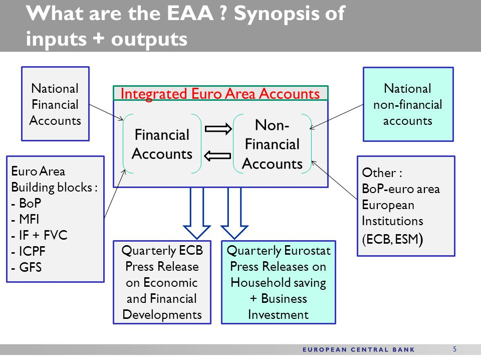 What are the EAA Synopsis of inputs + outputs