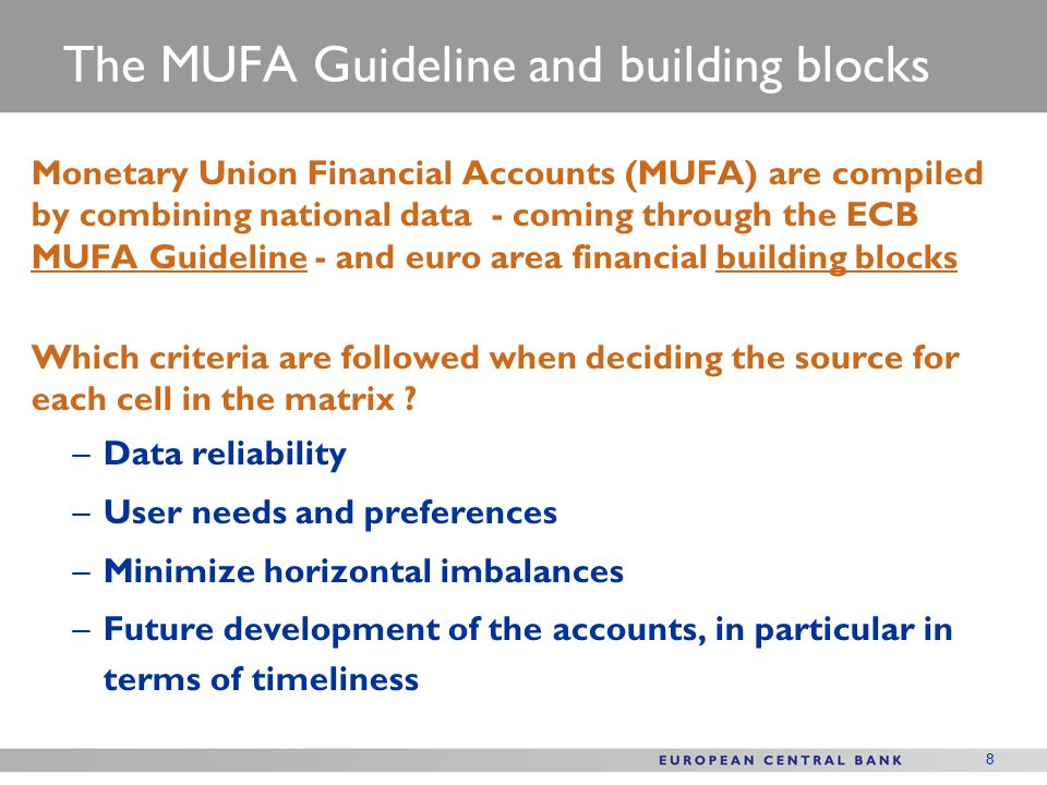 The MUFA Guideline and building blocks