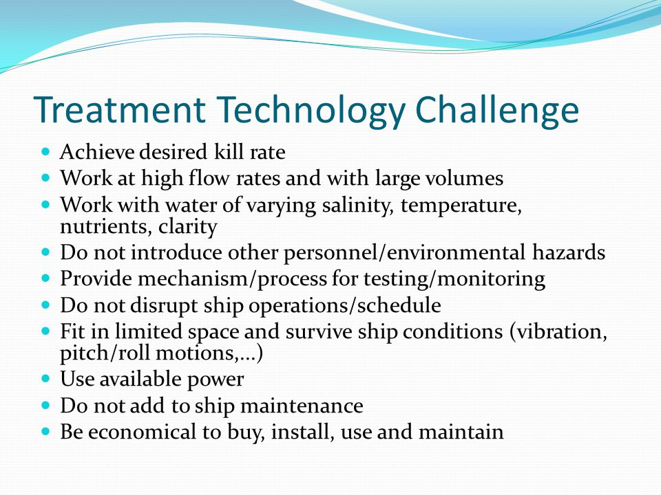 Treatment Technology Challenge