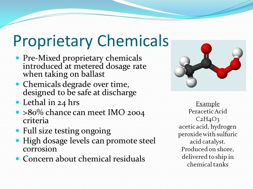 Proprietary Chemicals