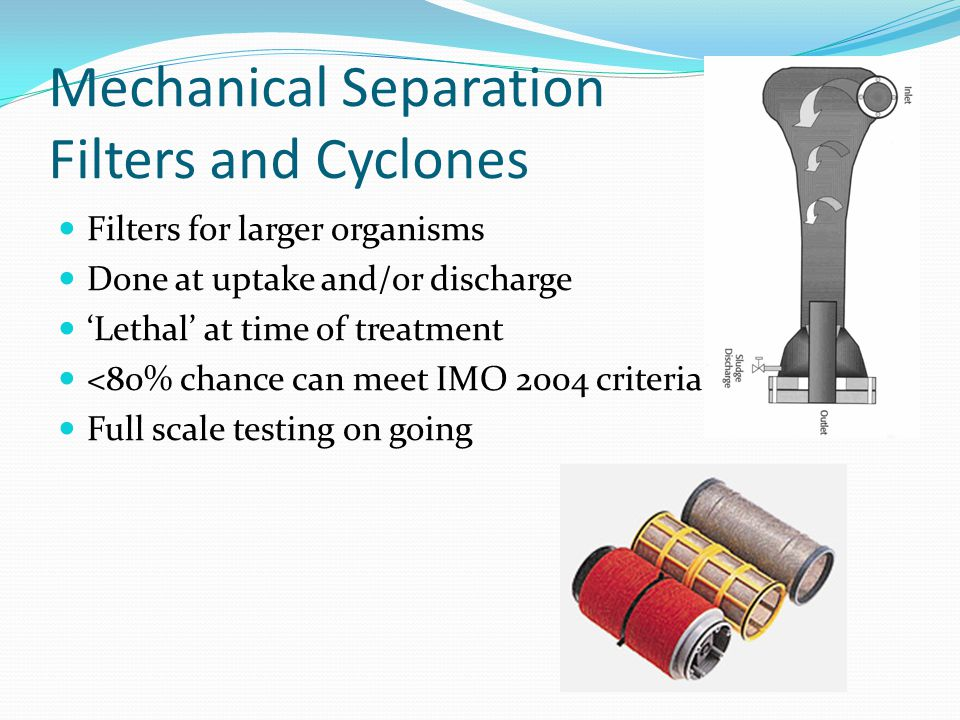 Mechanical Separation Filters and Cyclones