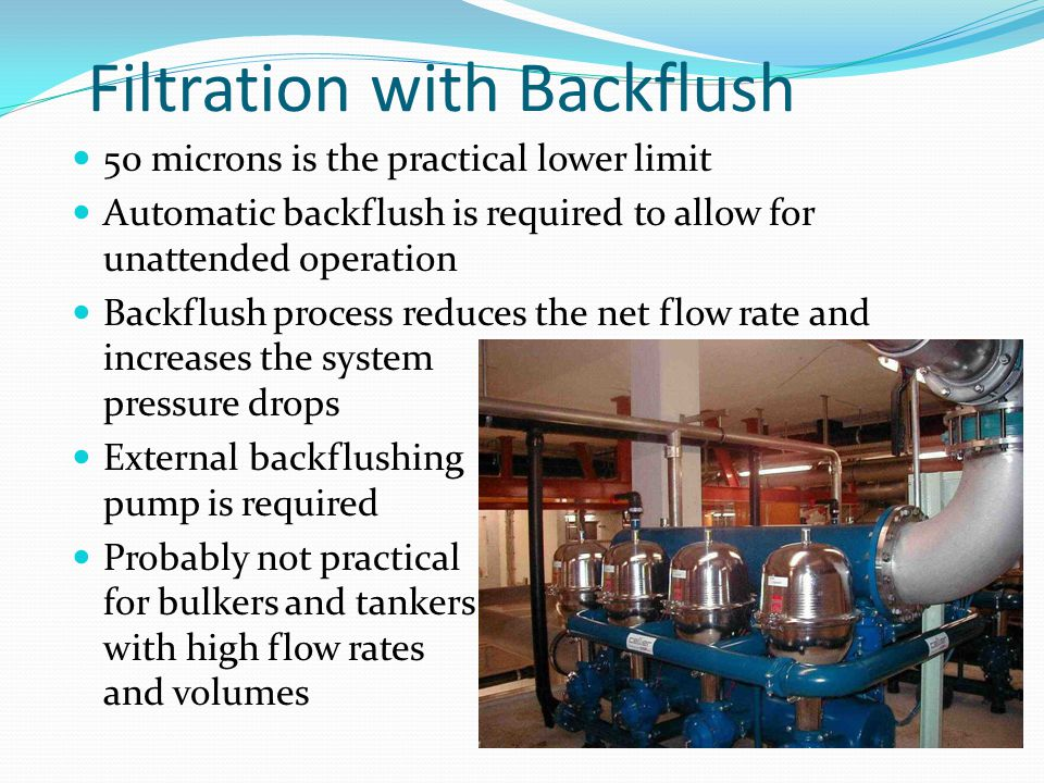 Filtration with Backflush