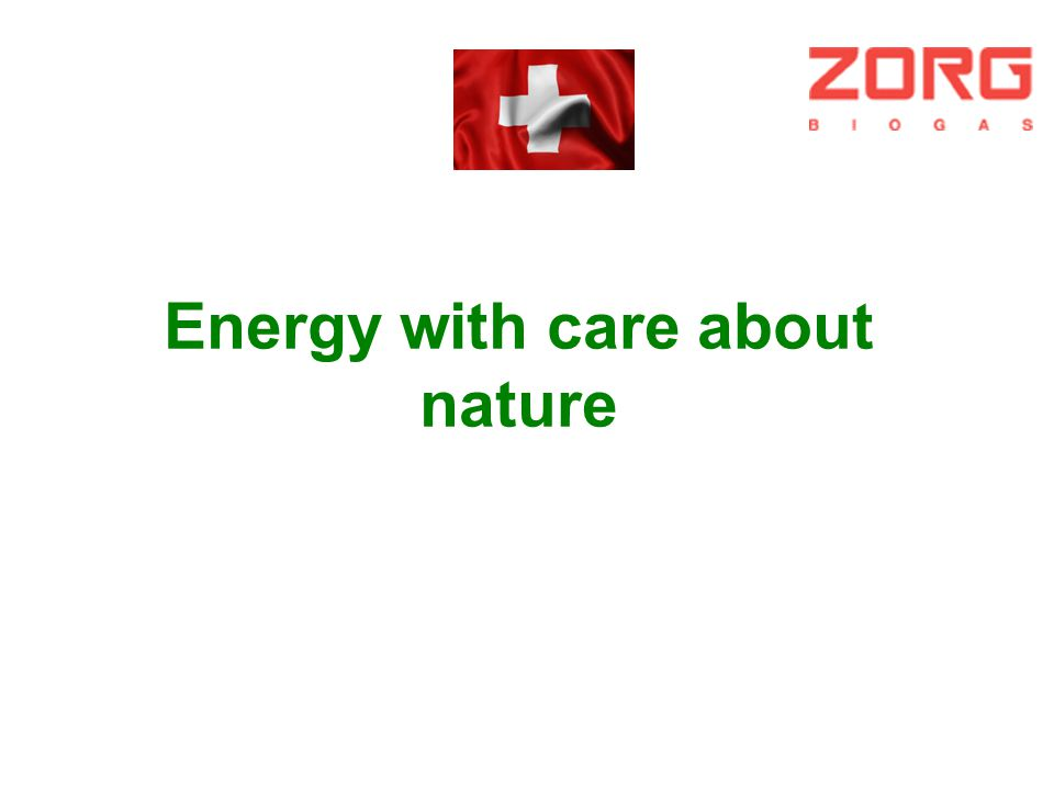 Energy with care about nature