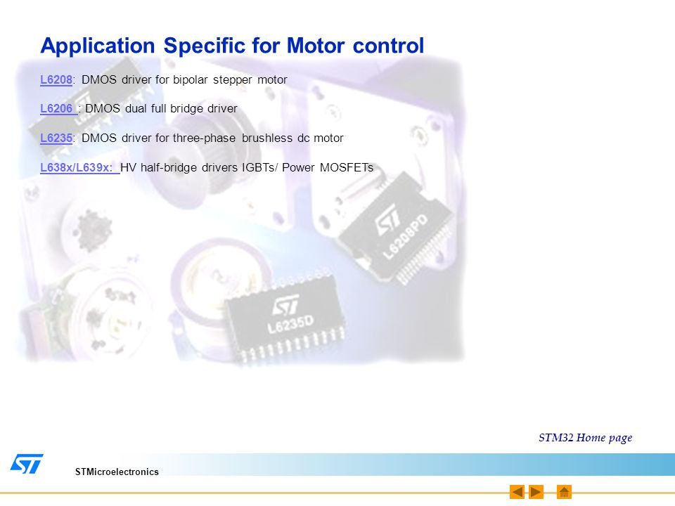 Application Specific for Motor control