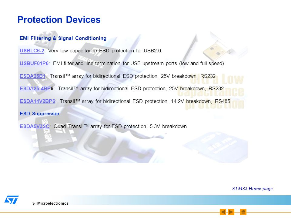 Protection Devices EMI Filtering & Signal Conditioning