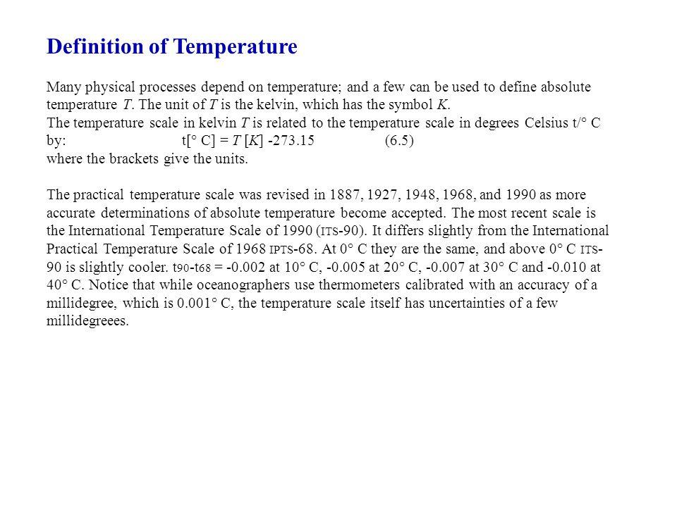 Definition of Temperature