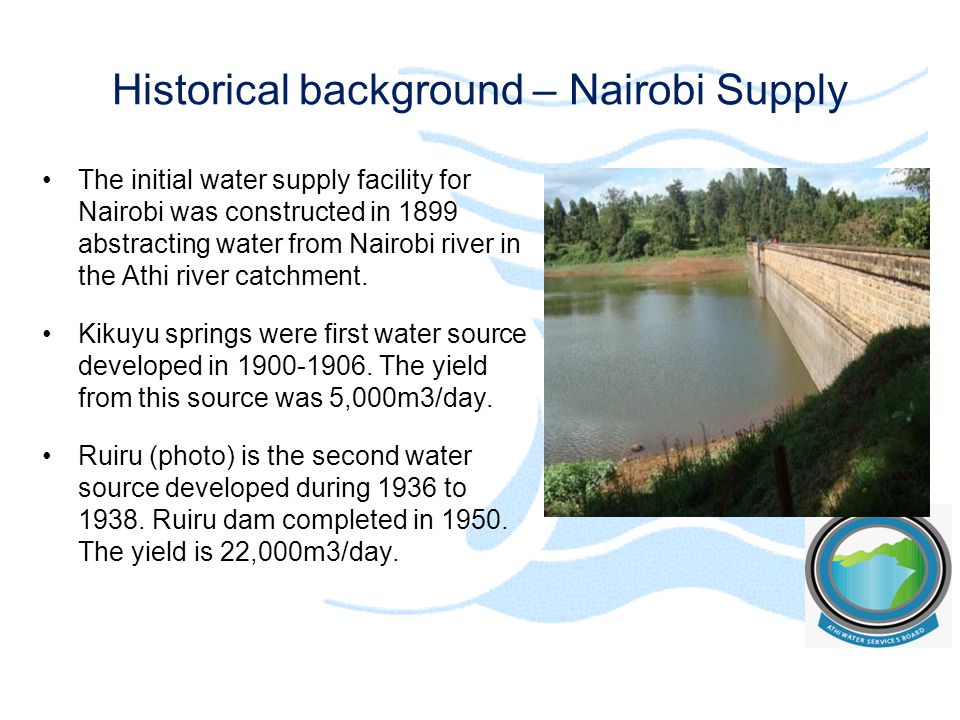 Historical background – Nairobi Supply