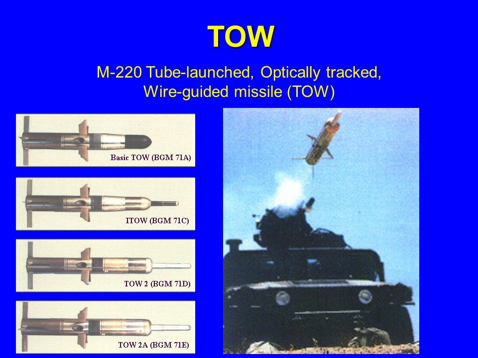M-220 Tube-launched, Optically tracked, Wire-guided missile (TOW)