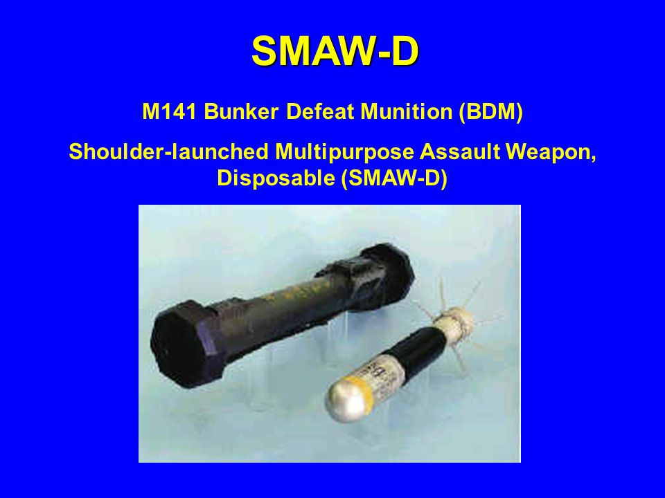 M141 Bunker Defeat Munition (BDM)