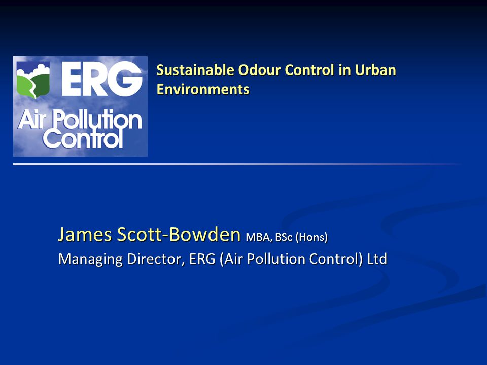 Sustainable Odour Control in Urban Environments